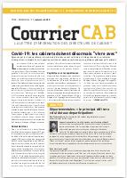 """Covid-19 : les cabinets doivent désormais """"vivre avec"""""""